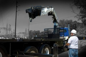 IMT Articulating Cranes are Key to Utility Construction Company's Productivity